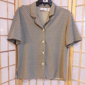 Liz Claiborne Collection Geometric Print Shirt 10